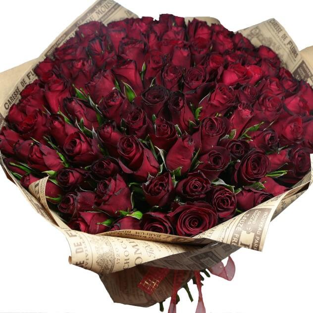 101 классическая роза