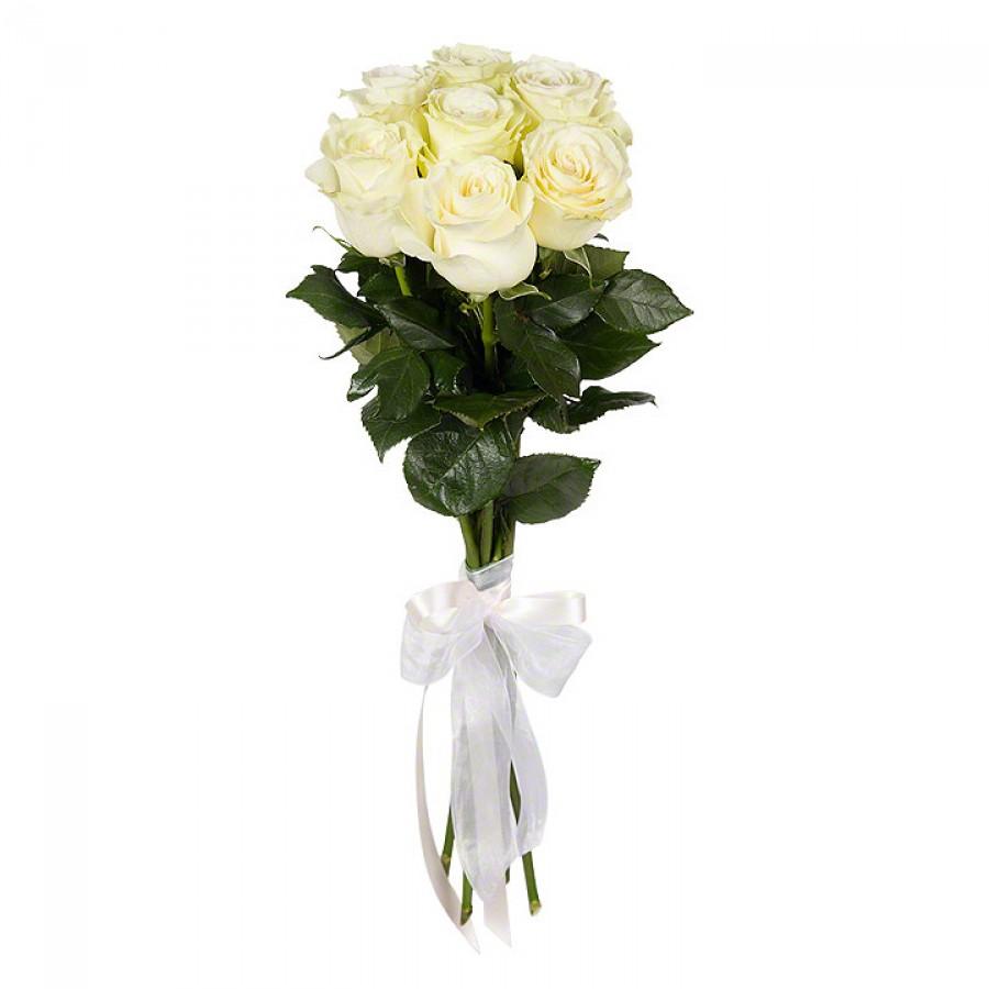 Букет из 7 белых роз премиум
